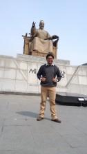 King Sejong Statue, Seoul, circa 2015